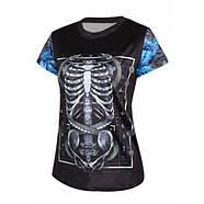 Оригинальная женская со скелетом футболка, фото 2