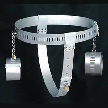 РОЗПРОДАЖ! Срібний жіночий пояс вірності з наручниками