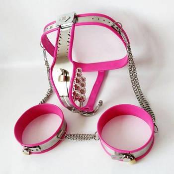 Рожевий пояс вірності для жінок
