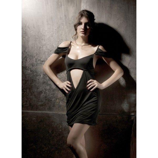 Сексуальное черное мини-платье