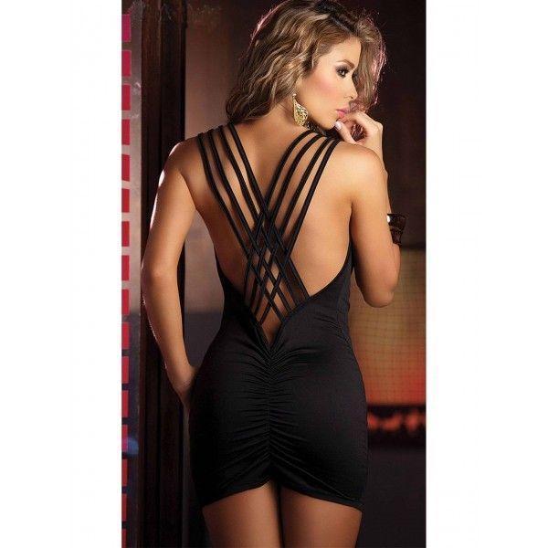 Эротичное черное платье