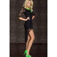 Сексуальное мини-платье с кружевными рукавами короткое, фото 3
