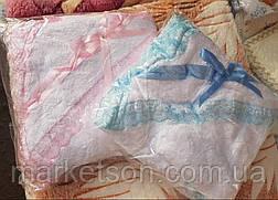 Крижма плед для хрещення з капюшоном на флісі, фото 2