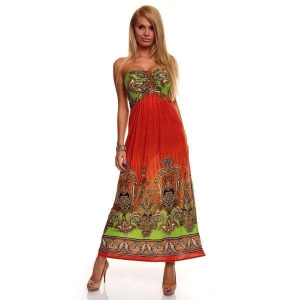 РАСПРОДАЖА! Летнее оранжевое платье