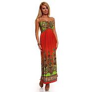 РАСПРОДАЖА! Летнее оранжевое платье, фото 2