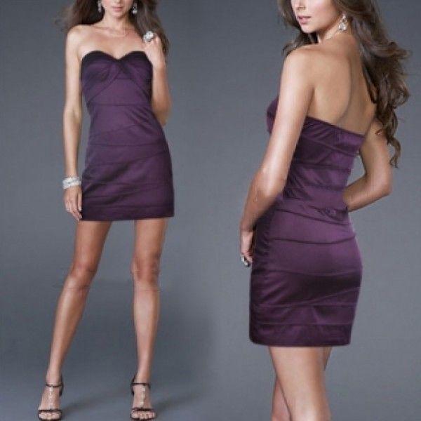 РАСПРОДАЖА! Фиолетовое платье без бретелек