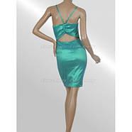 РАСПРОДАЖА! Сексуальное бирюзовое платье в обтяжку, фото 3