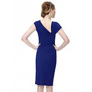 РАСПРОДАЖА! Облегающее платье с брошью синее, фото 2