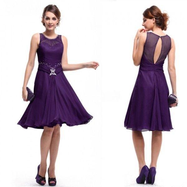 РАСПРОДАЖА! Платье с вырезом на спине фиолетовое