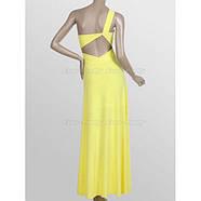 РАСПРОДАЖА! Желтое длинное вечернее платье с открытым плечом, фото 3