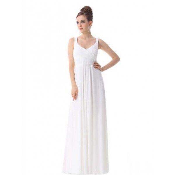 РАСПРОДАЖА! Вечернее длинное платье на бретельках белое
