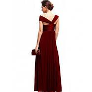 РАСПРОДАЖА! Ярко-красное вечернее длинное платье с открытым плечом, фото 2