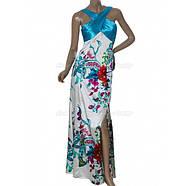 РАСПРОДАЖА! Вечернее элегантной платье с голубым принтом, фото 2