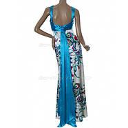 РАСПРОДАЖА! Вечернее элегантной платье с голубым принтом, фото 3