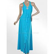 РАСПРОДАЖА! Элегантное голубое платье, фото 2