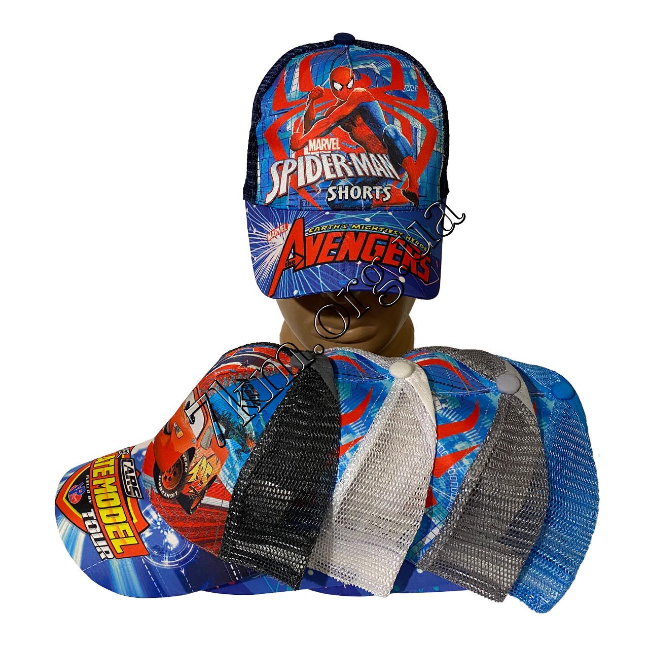 """Кепка детская для мальчиков """"Spider-man"""" 52 р. хлопок +сетка Оптом 8316"""