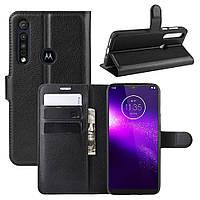 Чехол Luxury для Motorola Moto G8 Play книжка черный