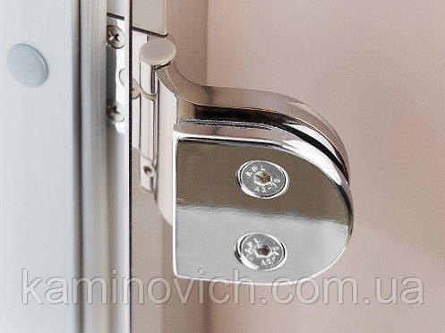 Стеклянная дверь для хамама GREUS прозрачная бронза 80/200 алюминий, фото 2