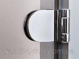 Стеклянная дверь для хамама GREUS прозрачная бронза 80/200 алюминий, фото 3