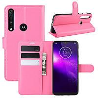 Чехол Luxury для Motorola Moto G8 Play книжка розовый