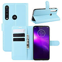 Чехол Luxury для Motorola Moto G8 Play книжка голубой