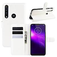Чехол Luxury для Motorola Moto G8 Play книжка белый