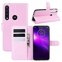 Чехол Luxury для Motorola Moto G8 Play книжка светло-розовый