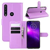 Чехол Luxury для Motorola Moto G8 Play книжка фиолетовый