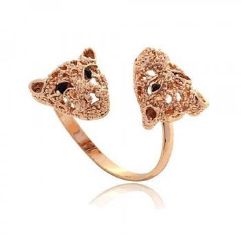 РАСПРОДАЖА! Кольцо с леопардами и стразами