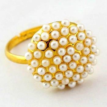 РАСПРОДАЖА! Золотистое кольцо с бусинами