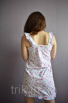 """Рубашка ночная """"Анжелика"""" сердечки, фото 2"""