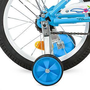 Велосипед детский PROF1 16 Д. L1684 голубой, фото 2