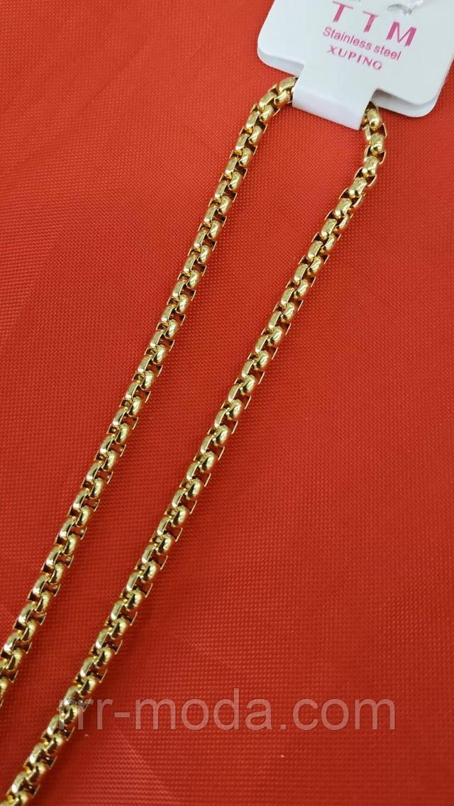 Ювелирный позолоченный жгут с модным переплётом. Брендовая позолоченная бижутерия Xuping оптом и в розницу.