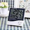 Цифровой комнатный термометр - гигрометр с часами и  будильником HTC-1, фото 7
