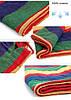 Бразильский подвесной тканевый гамак с перекладиной 203*80 см, фото 6