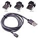 Магнитный кабель для iPhone + MicroUSB + Type-C M3, фото 2