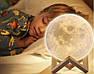 3D светильник-ночник  Луна (без пульта), фото 5