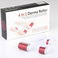 Роликовый массажер мезороллер для лица и тела | Дермароллер Derma Roller 4 в 1 (Реплика), фото 1