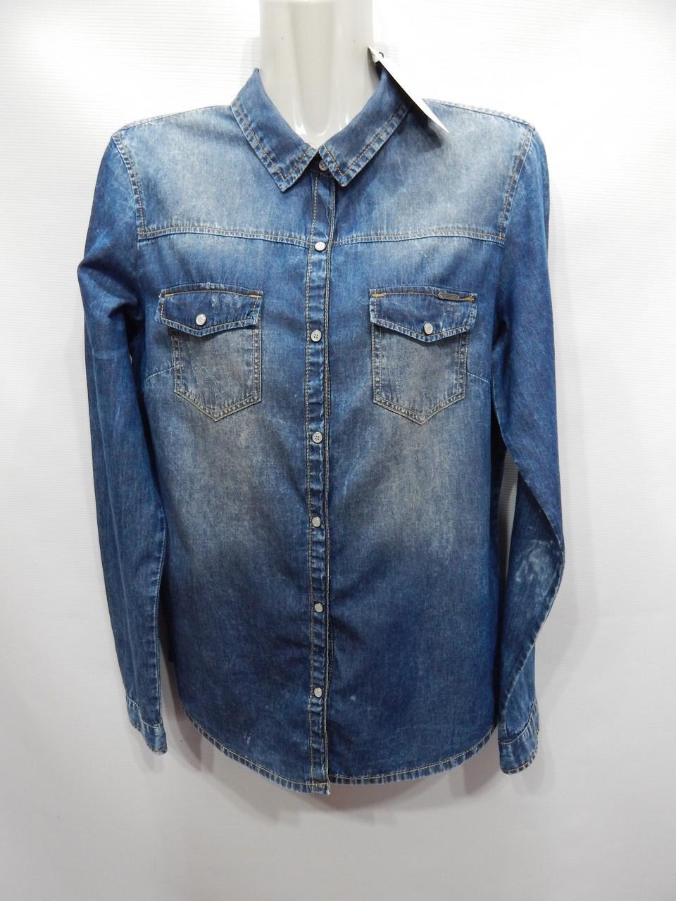 Блуза-рубашка  джинсовая женская Bershka 46-48р.137ж