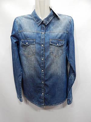 Блуза-сорочка жіноча джинсова Bershka 46-48р.137ж