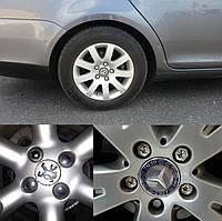 Защитные Колпачки (накладки, крышки) на колесные болты 19 мм (20шт + съемник в подарок). Хром.