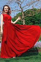 Летнее платье макси с расклешенной юбкой р-ры 42,44,46,48,50,52,54,56,58,60, фото 1