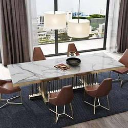 Мраморный стол прямоугольный. Модель 2-430