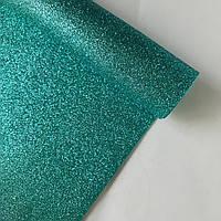 Фоамиран 2 мм с глиттером 20х30 см Мятный 1 шт, фото 1