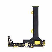 Шлейф для LENOVO K920 Vibe Z2 Pro с разъёмом micro-USB, микрофоном и компонентами на плате