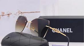 Женские стильные солнцезащитные очки (17251) brown