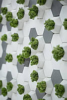 Настінні панелі декор для стін 3Д панелі 3D плитка 3Д панель шестигранник 7,2 см
