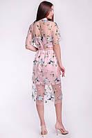 Коктейльное женское платье из сетки и щелка, фото 4