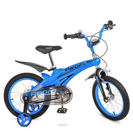 Велосипед дитячий PROF1 16 Д. LMG16125 синій, фото 2