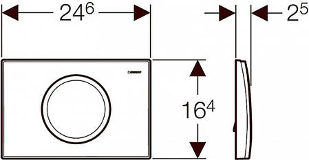 Кнопка змиву 115.120.11.1 GEBERIT Delta 11 змив/стоп біла, фото 2